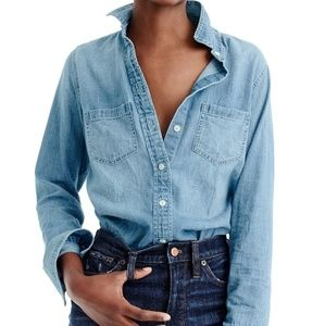 J CREW the perfect shirt denim shirt size small